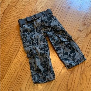 Grey and Black Skull Pants